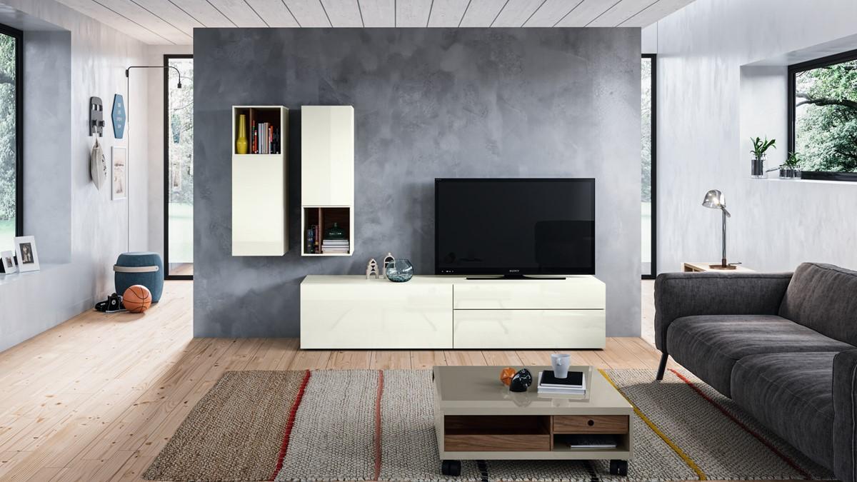 Konfiguriere jetzt Deine individuelle hülsta NOW! VISION Wohnwand #990011