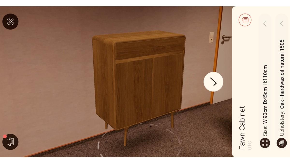 GAZZDA Fawn Cabinet jetzt in der Augmented Reality auf Deinem Smartphone oder Tablet ansehen
