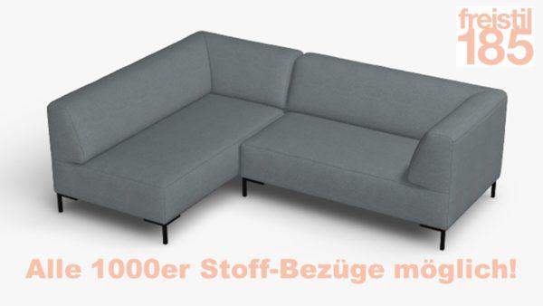 freistil 185 Ecksofa mit hohem Rücken in der Breite 225 cm Alle 1000er Stoff-Bezüge möglich!
