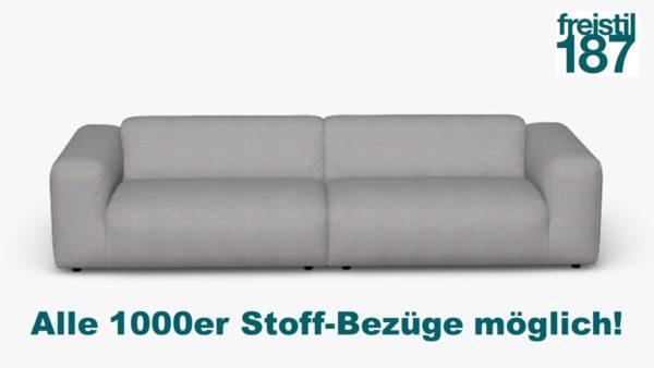 freistil 187 Sofabank in der Breite 300 cm Alle 1000er Stoff-Bezüge möglich!