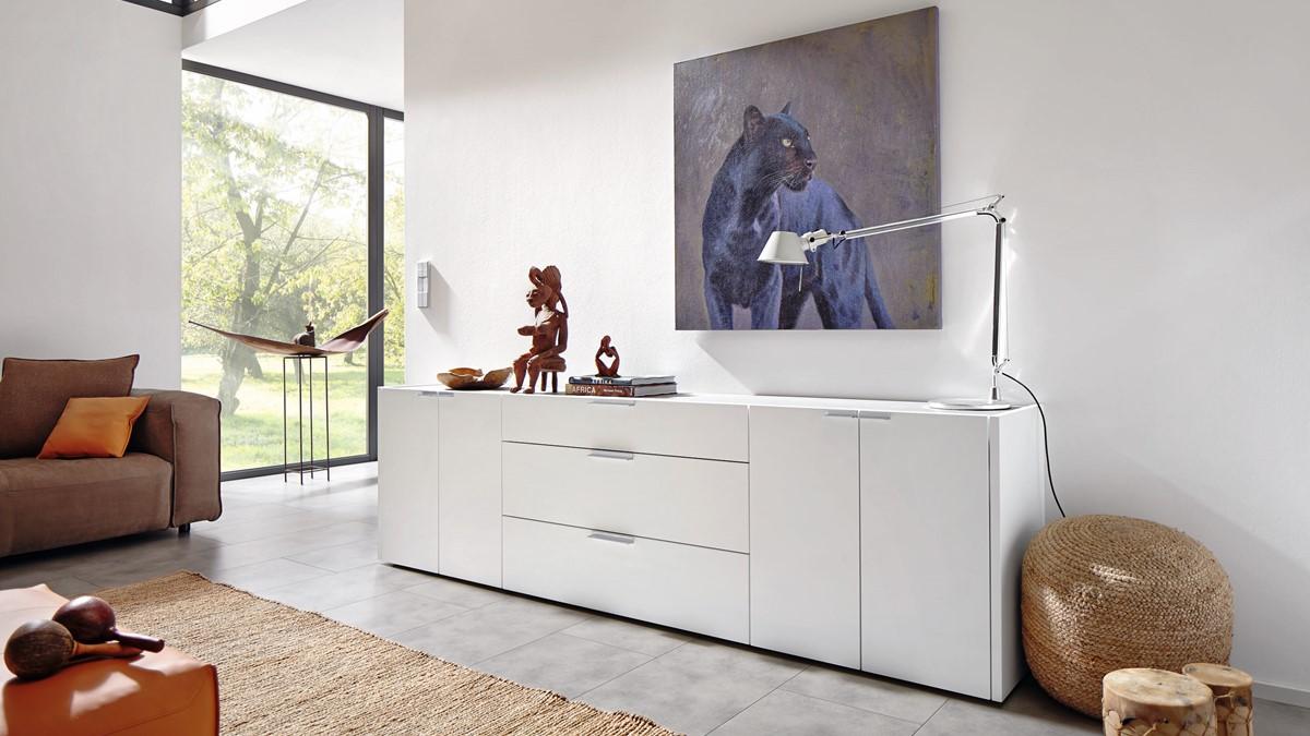 hülsta FENA Sideboard #42513 verschiedene Looks, auf Wunsch mit Gestell - H  73,6 x B 251,8 xT 45,0 cm