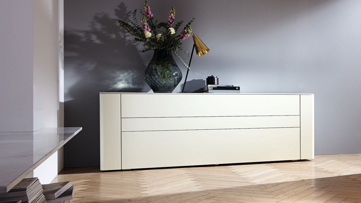 hülsta GENTIS Sideboard mit 3 Schubladen - 3 verschiedene Größen und 8  Farb-Varianten!