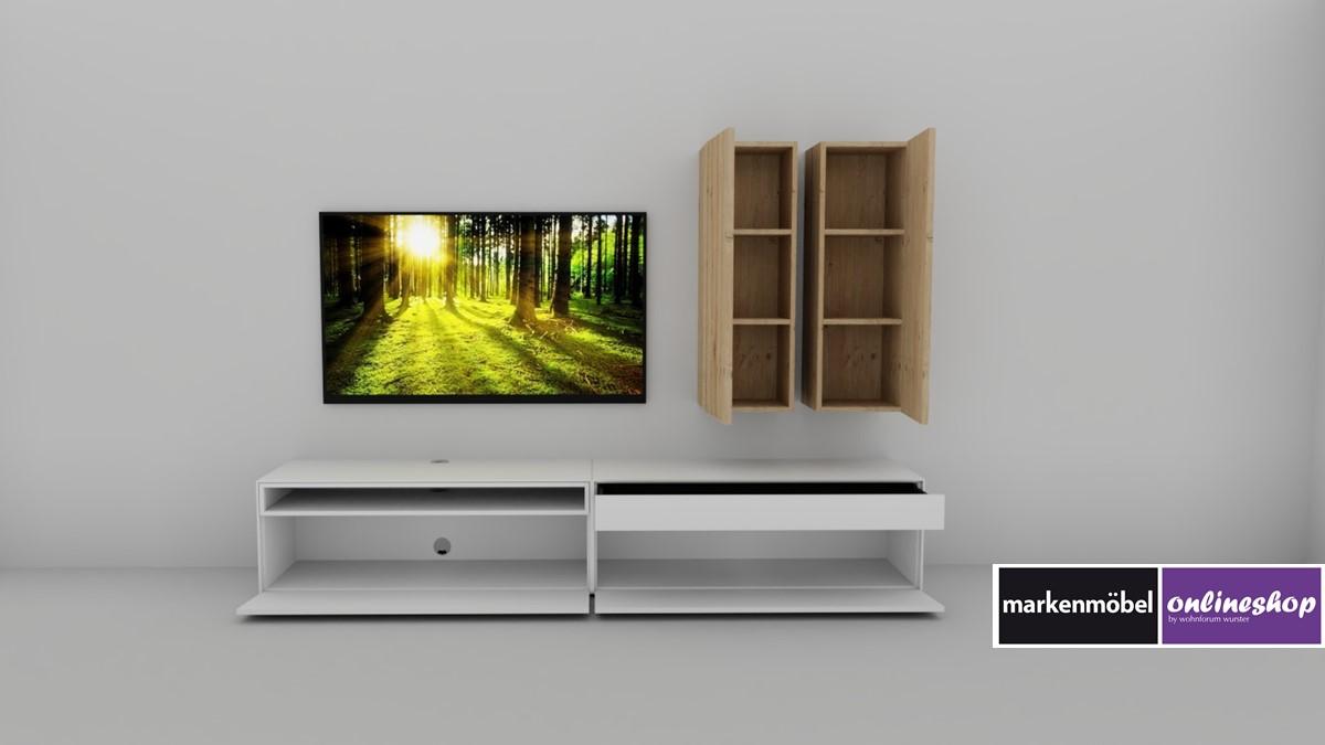 now easy lowboard kombiniert mit h lsta gentis h nge. Black Bedroom Furniture Sets. Home Design Ideas
