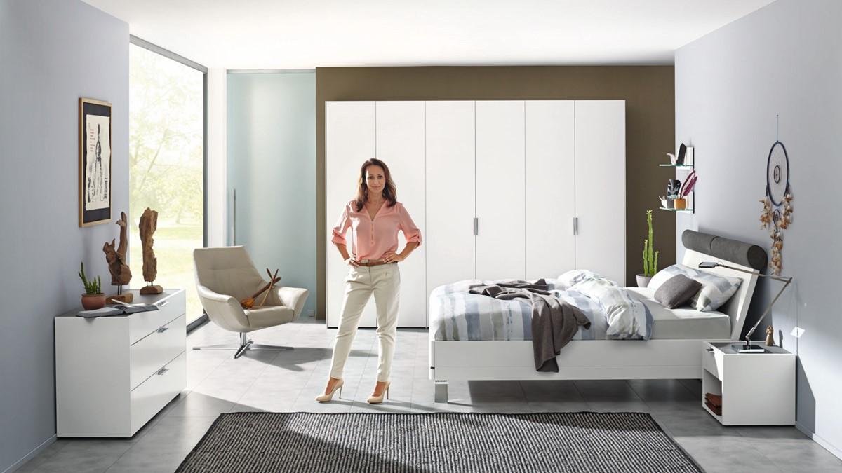 hülsta FENA Bett mit Polsterkopfteil   in verschiedenen Maßen & Designs