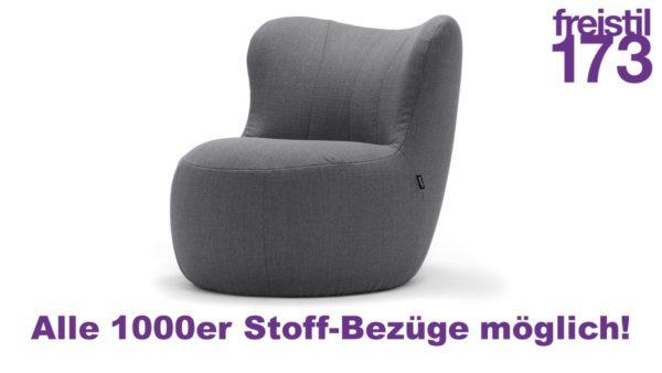 Gestalte jetzt Deinen eigenen freistil 173 Sessel und wäehle dabei aus allen 1000er Bezugs-Stoffen