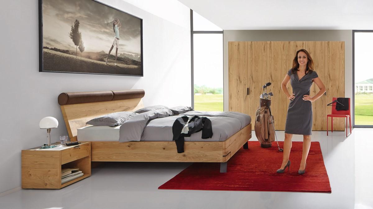 hülsta FENA Bett mit tiefenverformtem Polsterkopfteil - in verschiedenen  Maßen und Looks!