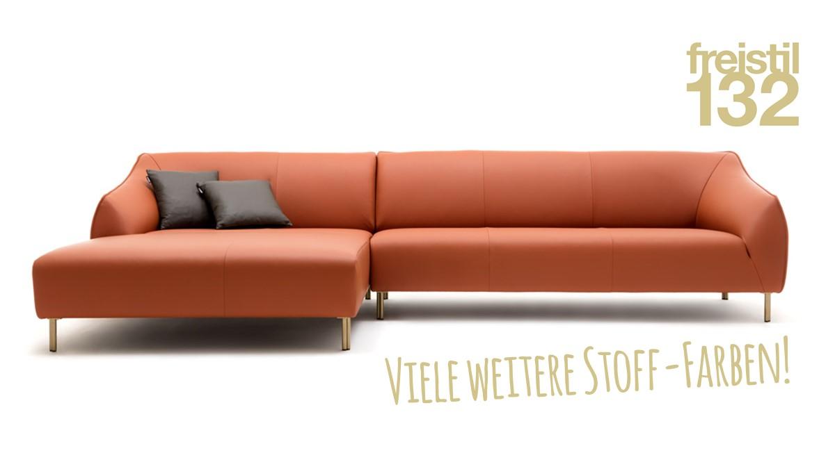 freistil 132 Sofa - Kombinationsbeispiel 2 in zahlreichen Bezügen erhältlich