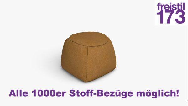 freistil 173 Pouf rund Alle 1000er Stoff-Bezüge möglich!