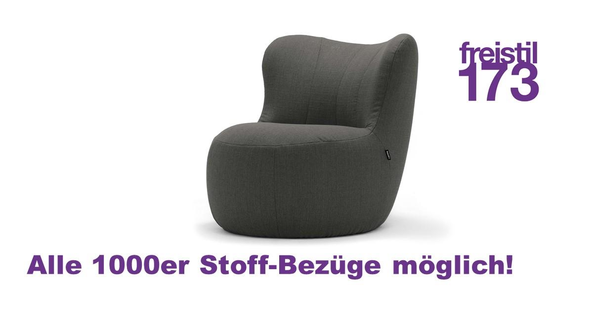 freistil 173 Sessel - In allen freistil 1000er Stoff-Bezügen erhältlich