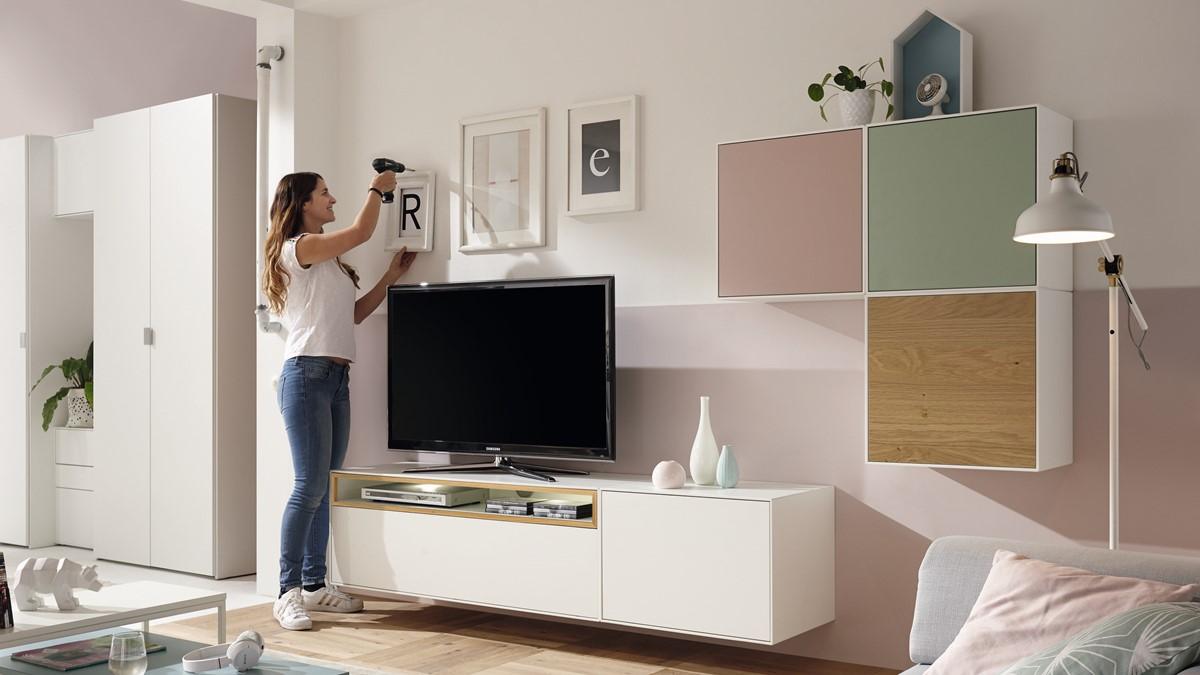 hülsta NOW! EASY Wohnwand mit 3 Design-Boxen - Auf Anfrage sind alle now!-easy-Farben möglich!