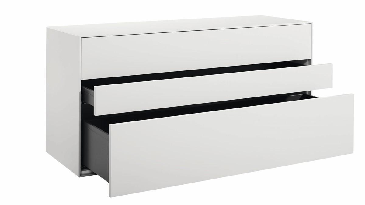 Die Maße von diesem kompakten NOW! 25 Sideboard sind: Höhe 64 cm, Breite 128 cm, Tiefe 44,8 cm)