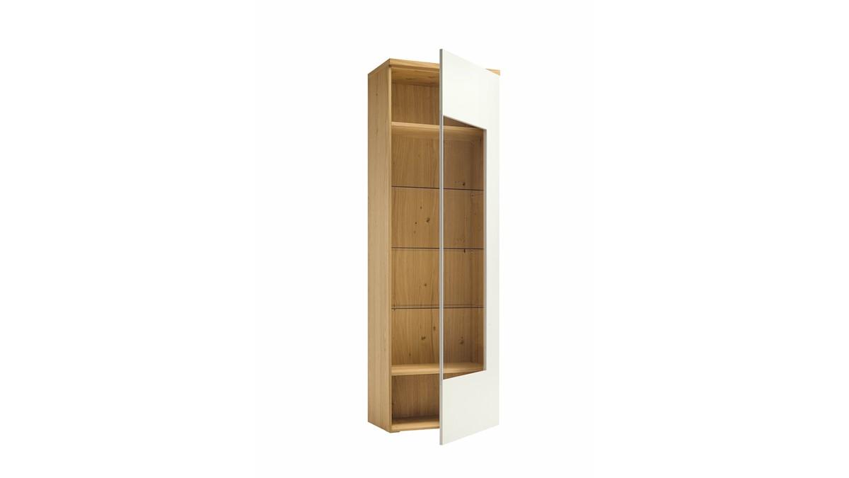 hülsta NOW! TIME Vitrine mit 2 Holz-Einlegeböden und 3 Glas-Einlegeböden