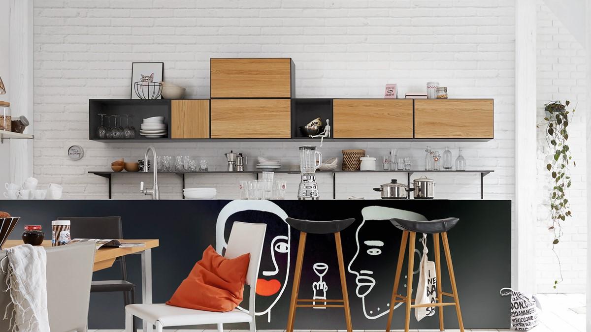 hülsta NOW! TO GO Küchen-Hängeschränke #117 / #117 bestehend aus 17  Boxen - Zwei verschiedene Looks!
