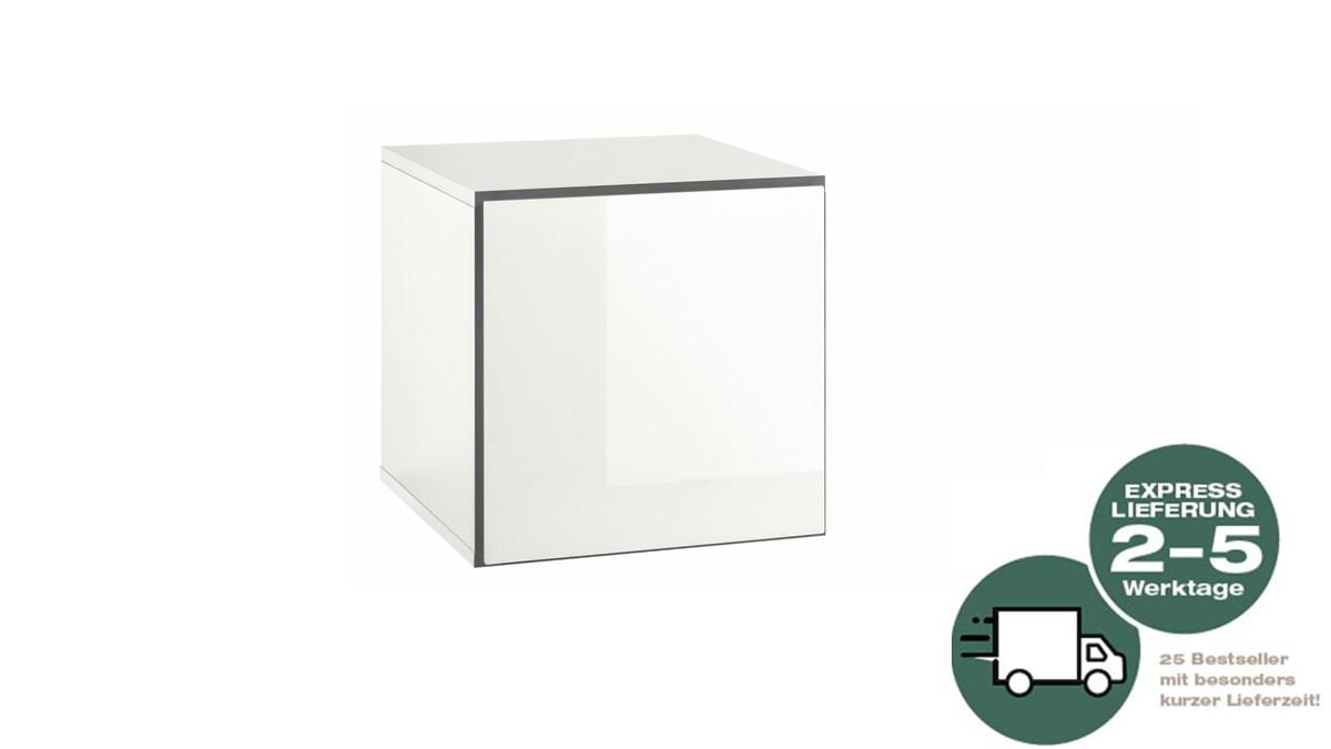 NOW! 25 to go Box geschlossen rechteckig - Ausführung Lack-Hochglanz-reinweiß und Schneeweiß