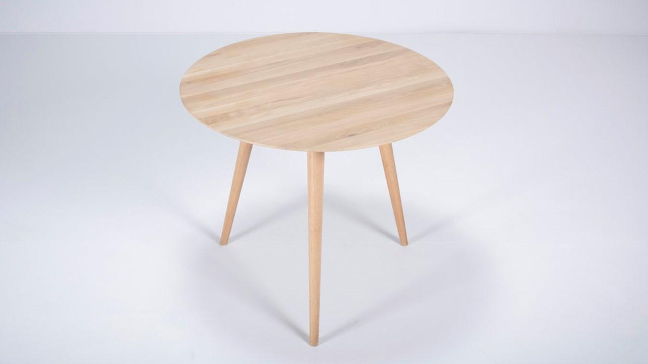 GAZZDA Stafa Tisch rund, Durchmesser 39 cm, 39 Holzausführungen möglich