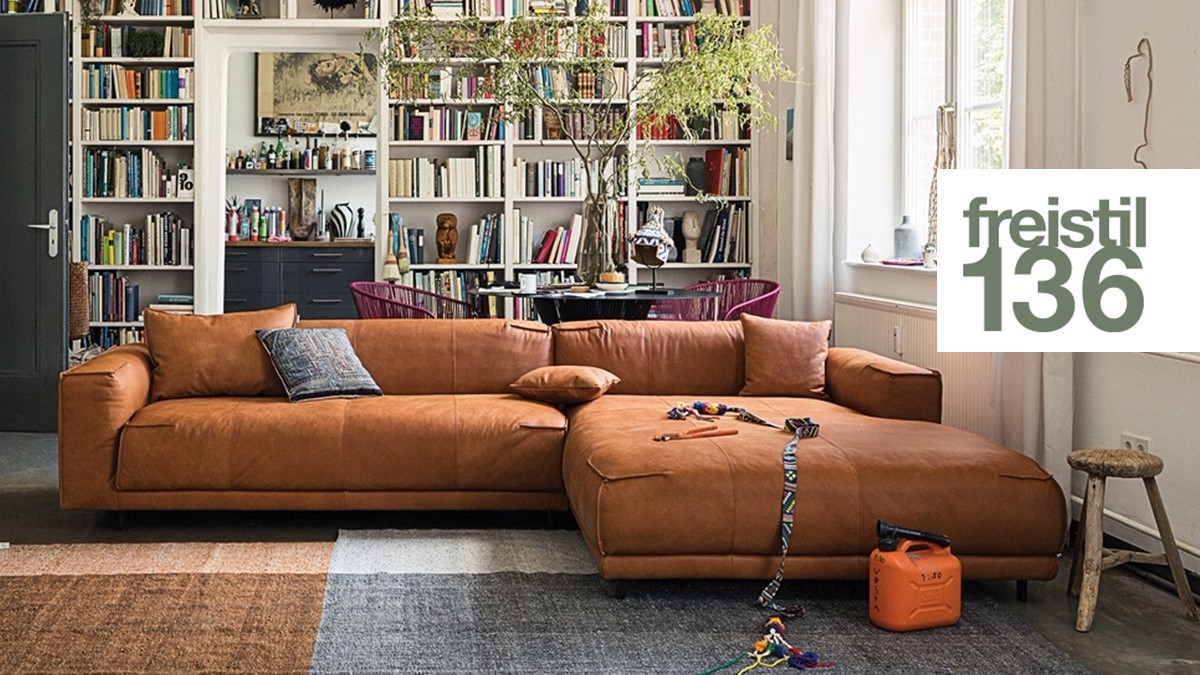 freistil 136 Sofa mit XL-Longchair