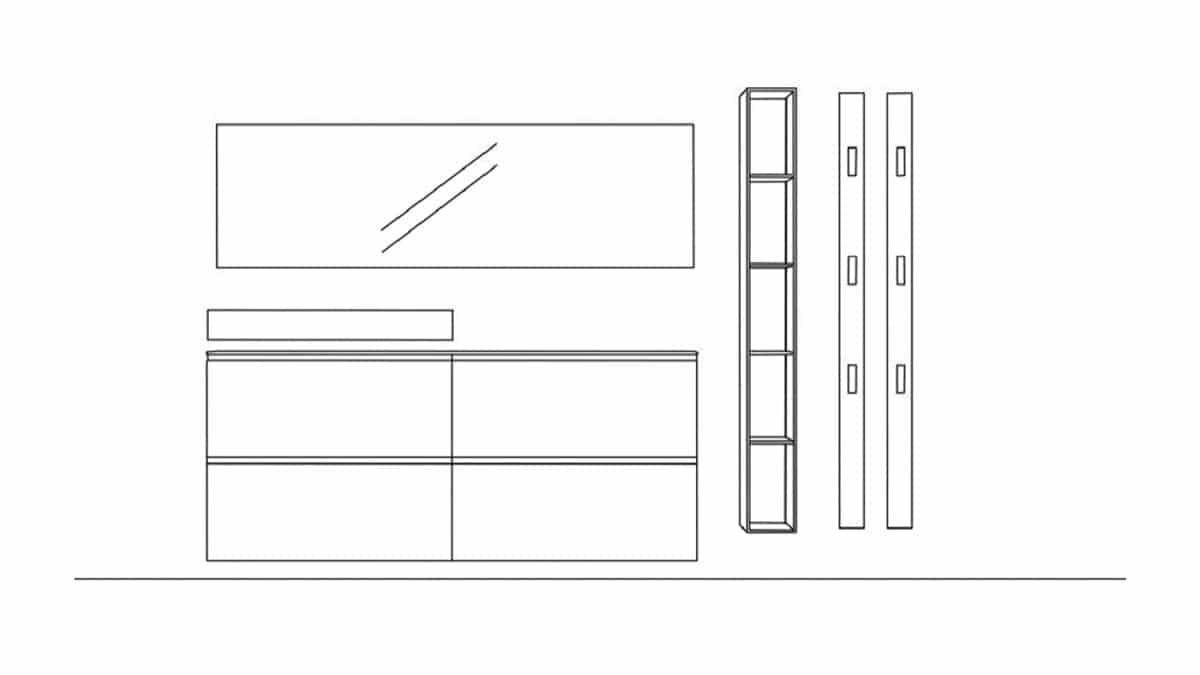 Sudbrock TANDO Vorschlagskombination 06 - technische Zeichnung