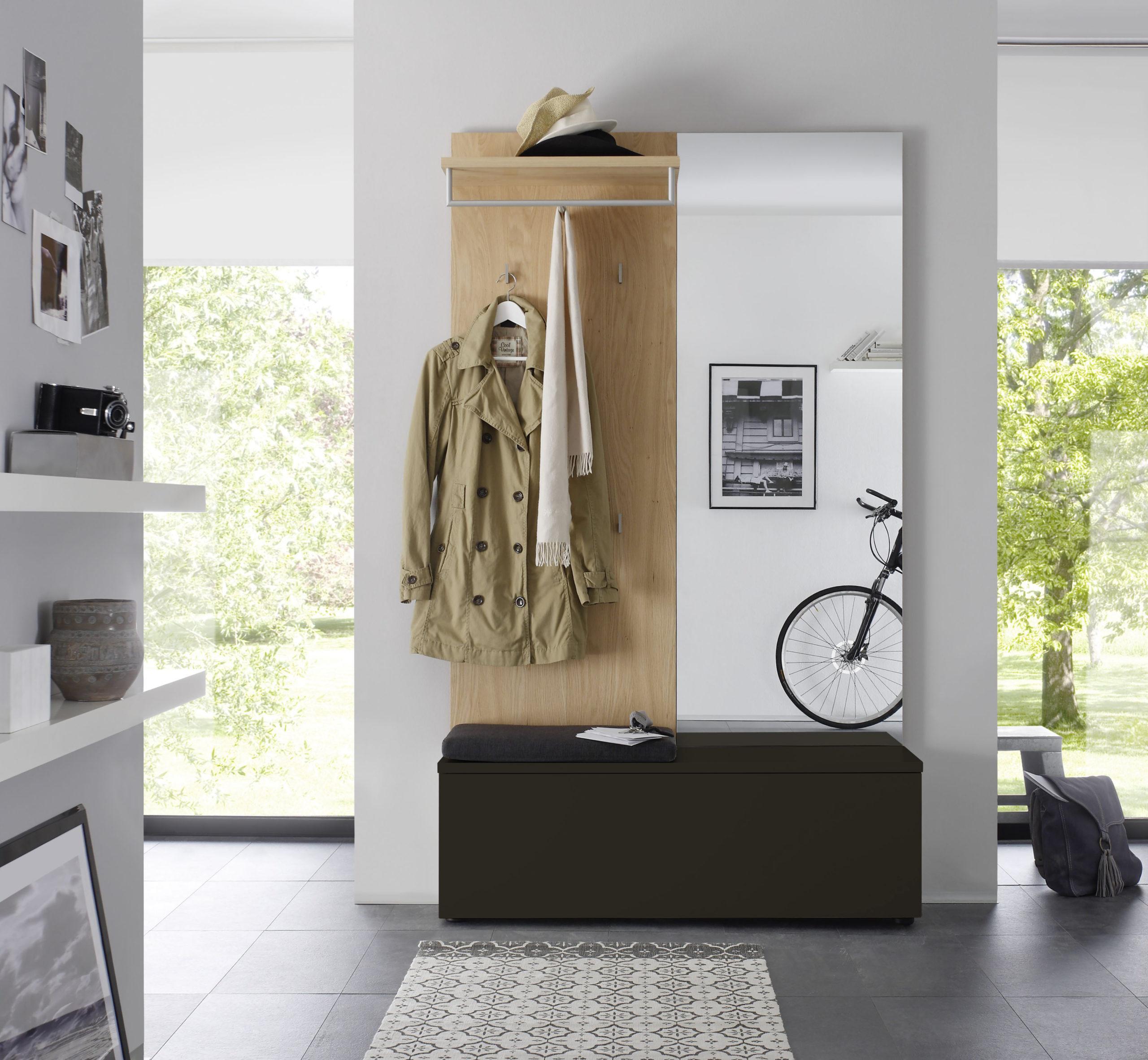 Sudbrock TANDO Garderobe in der Ausführung Ethno Eiche, Lack cosmos #436