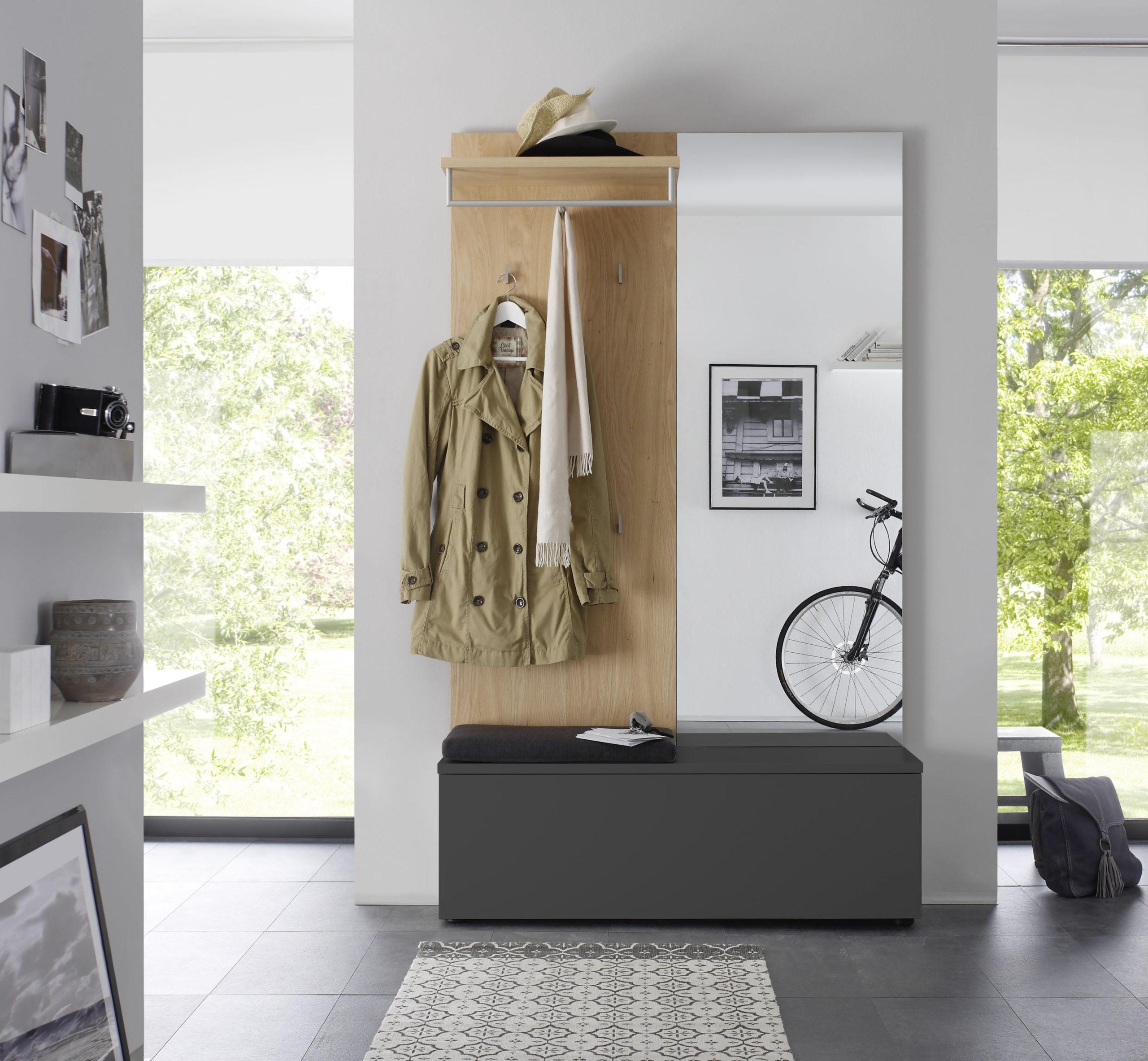 Sudbrock TANDO Garderobe in der Ausführung Ethno Eiche, Lack quarz #437