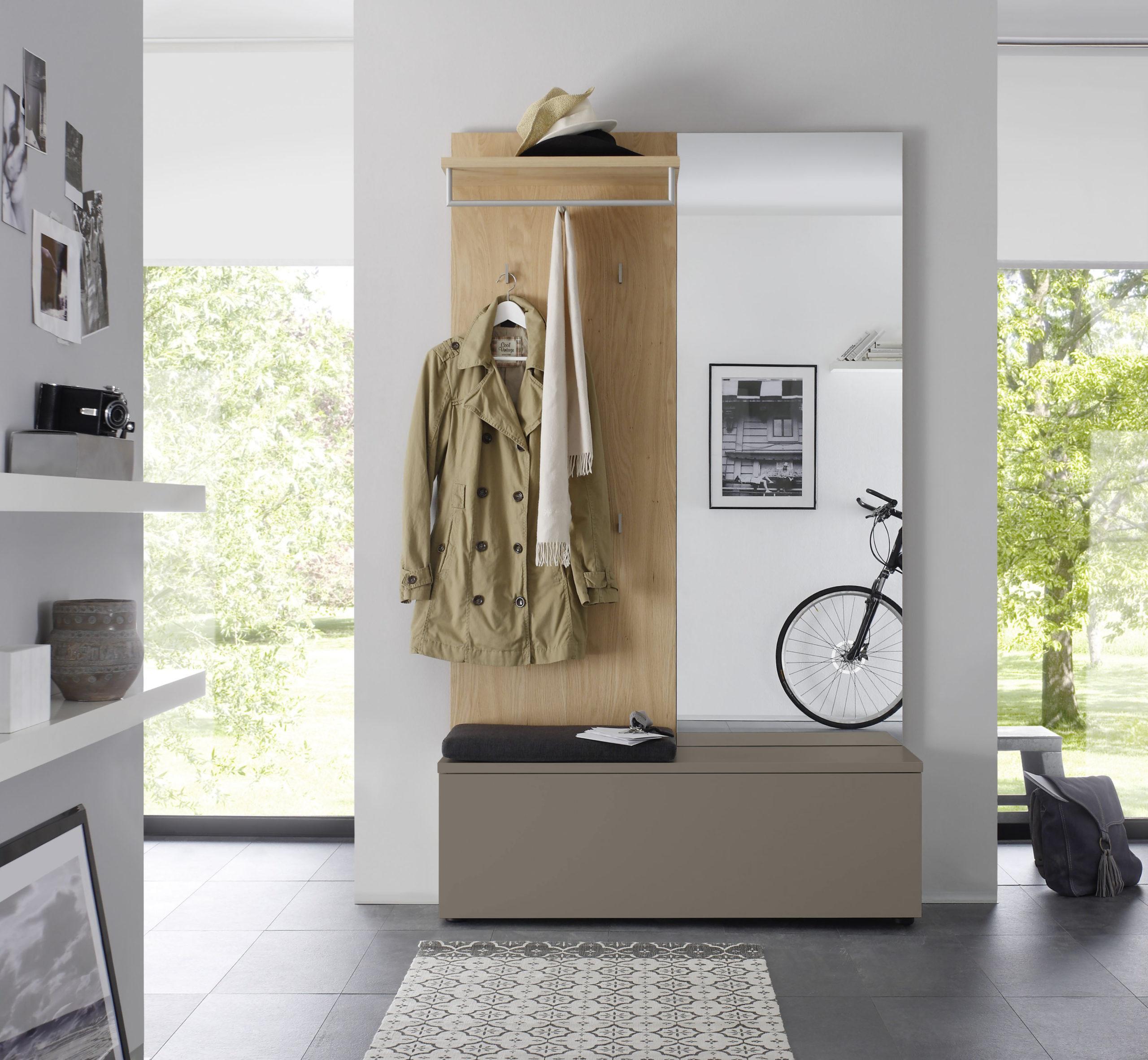Sudbrock TANDO Garderobe in der Ausführung Ethno Eiche, Lack sienna #465