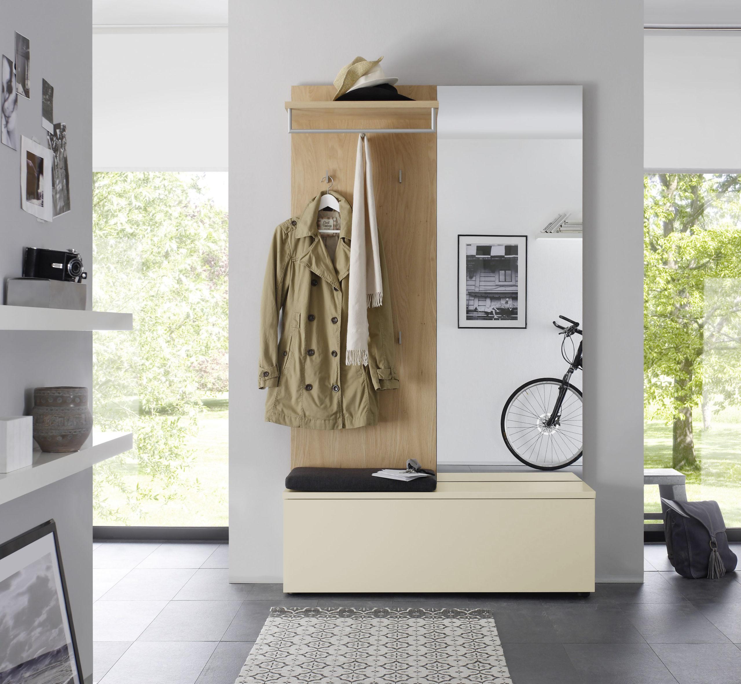 Sudbrock TANDO Garderobe in der Ausführung Ethno Eiche, Lack kaschmir #469