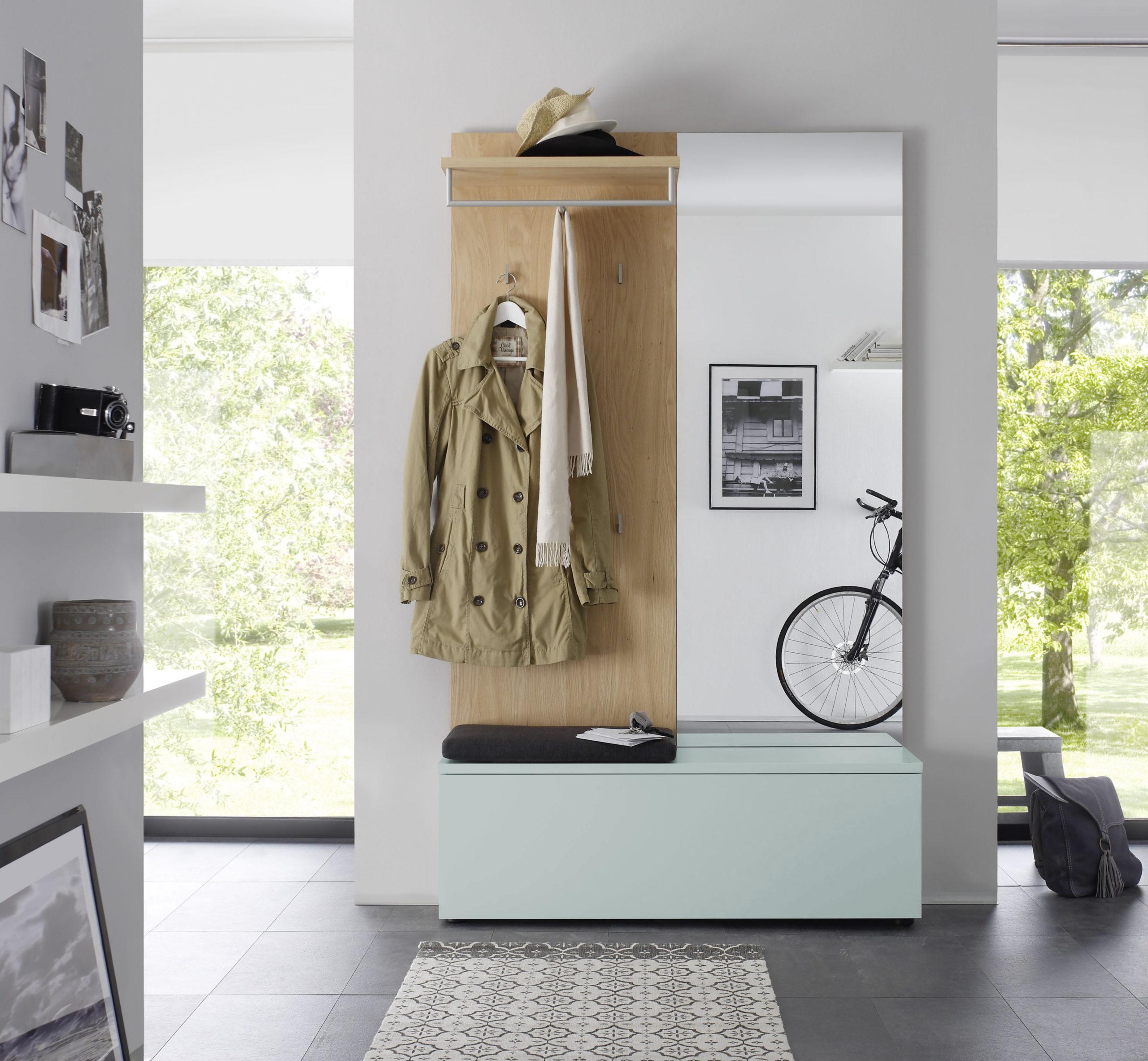 Sudbrock TANDO Garderobe in der Ausführung Ethno Eiche, Lack sky #475