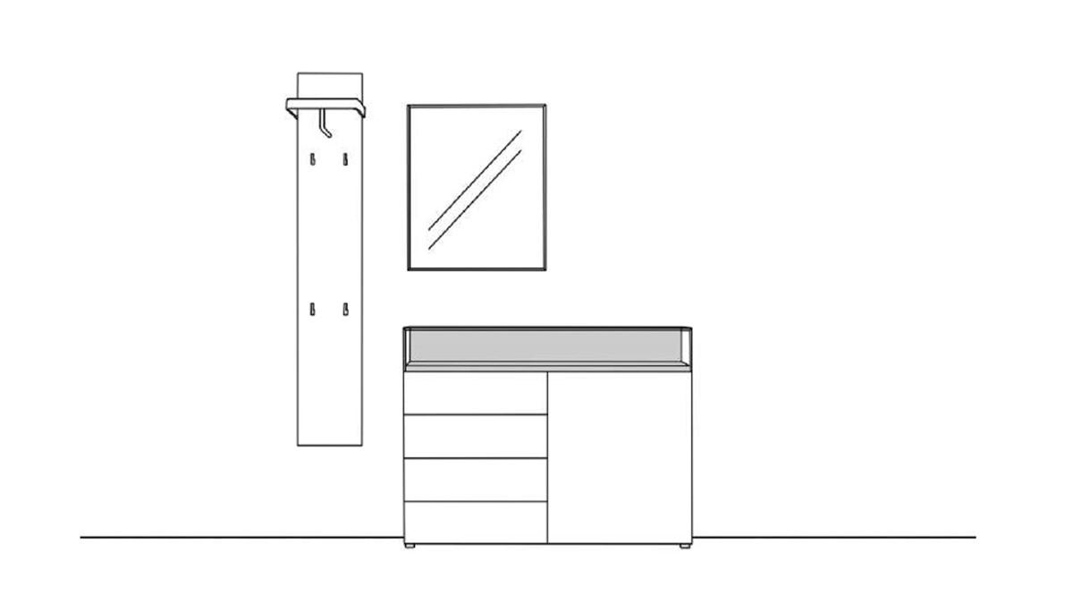 Sudbrock KAYA Garderobe 4 - technische Zeichnung