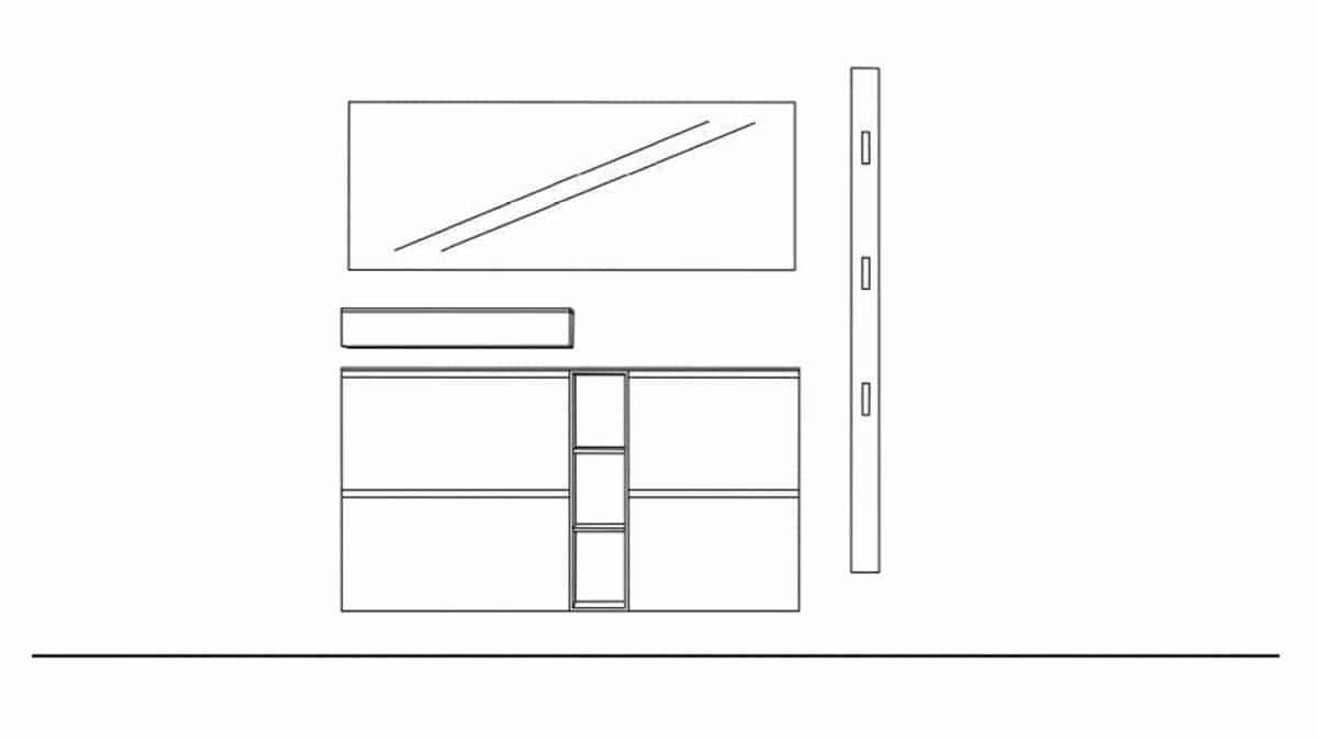 Sudbrock TANDO Dielen-Kombination No. 37 - Technische Zeichnung