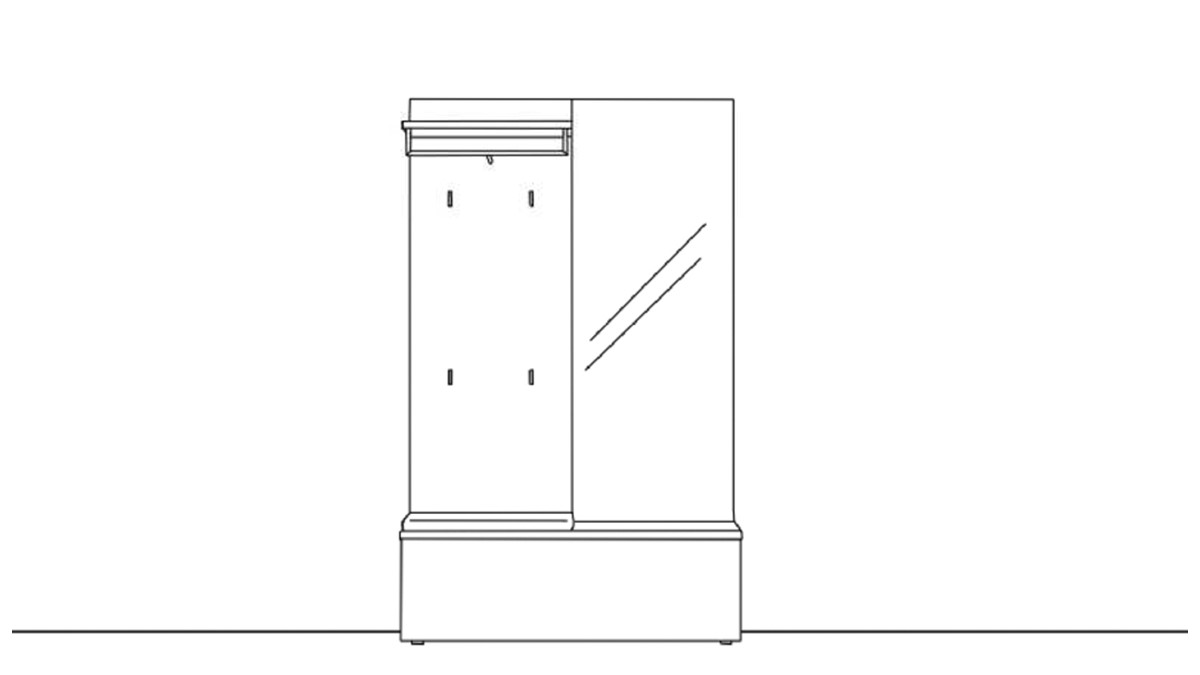 Sudbrock TANDO Garderobe 2 - technische Zeichnung