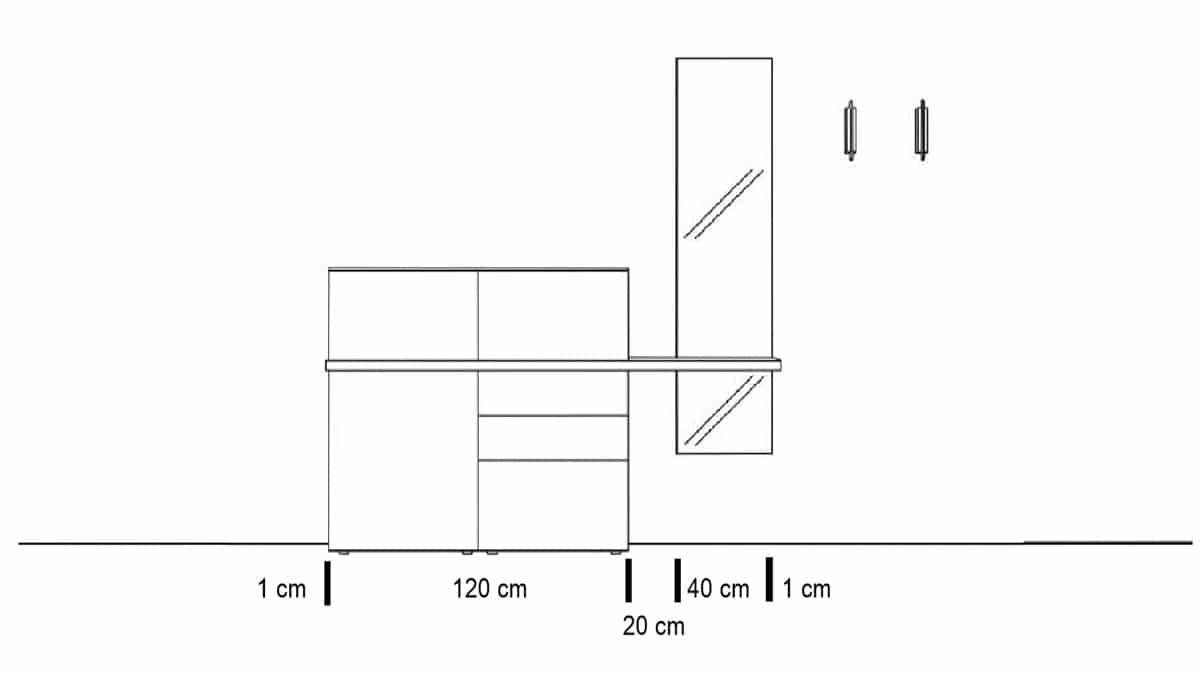 Technische Zeichnung zur Sudbrock TANDO Vorschlagskombination Nr. 20