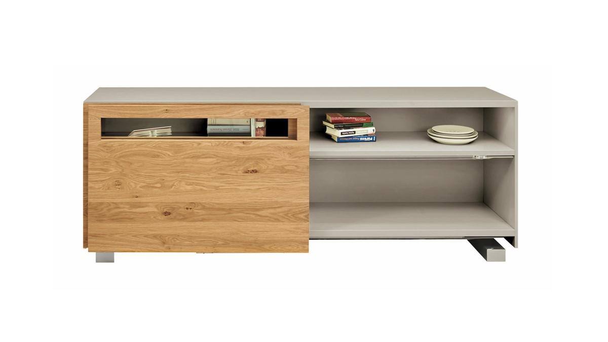 Auf Anfrage bekommst Du dieses NOW! VISION SIdeboard #1418 auch in einer Front mit Holz-Furnier.