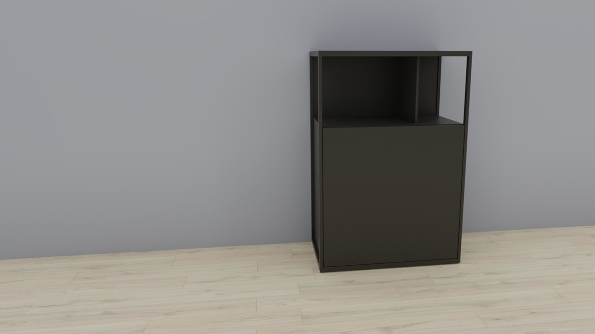 hülsta NOW! VISION Einzelmöbel 6R #16121 Front Lack-Hochglanz-grau, OHNE Akzent