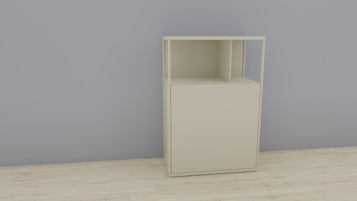 hülsta NOW! VISION Einzelmöbel 6R #16121 Front Lack-Hochglanz-seidengraugrau, OHNE Akzent