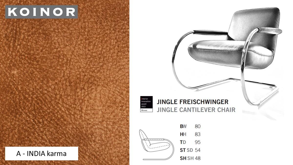 KOINOR JINGLE Freischwinger - Sessel im Leder-Bezug A - INDIA karma