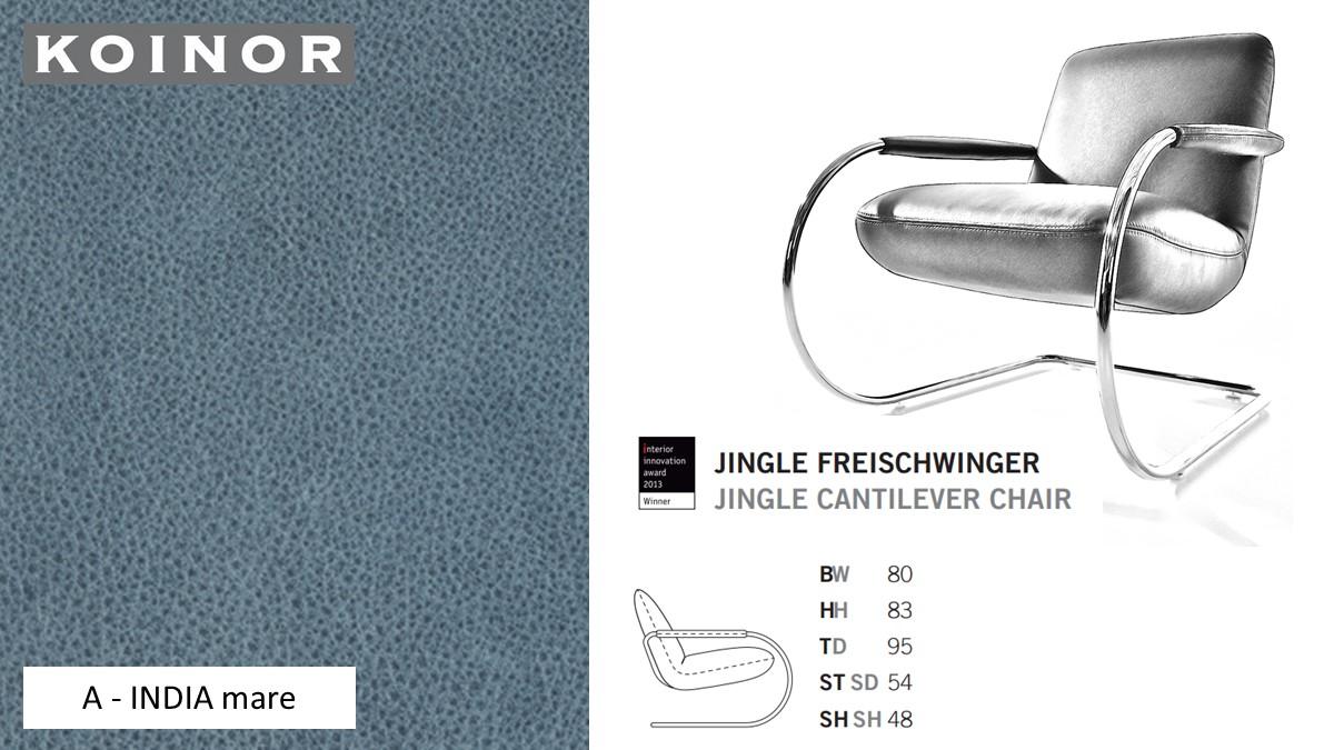 KOINOR JINGLE Freischwinger - Sessel im Leder-Bezug A - INDIA mare