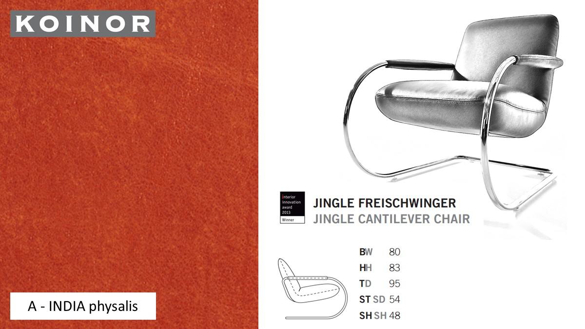 KOINOR JINGLE Freischwinger - Sessel im Leder-Bezug A - INDIA physalis
