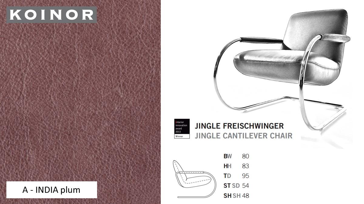 KOINOR JINGLE Freischwinger - Sessel im Leder-Bezug A - INDIA plum