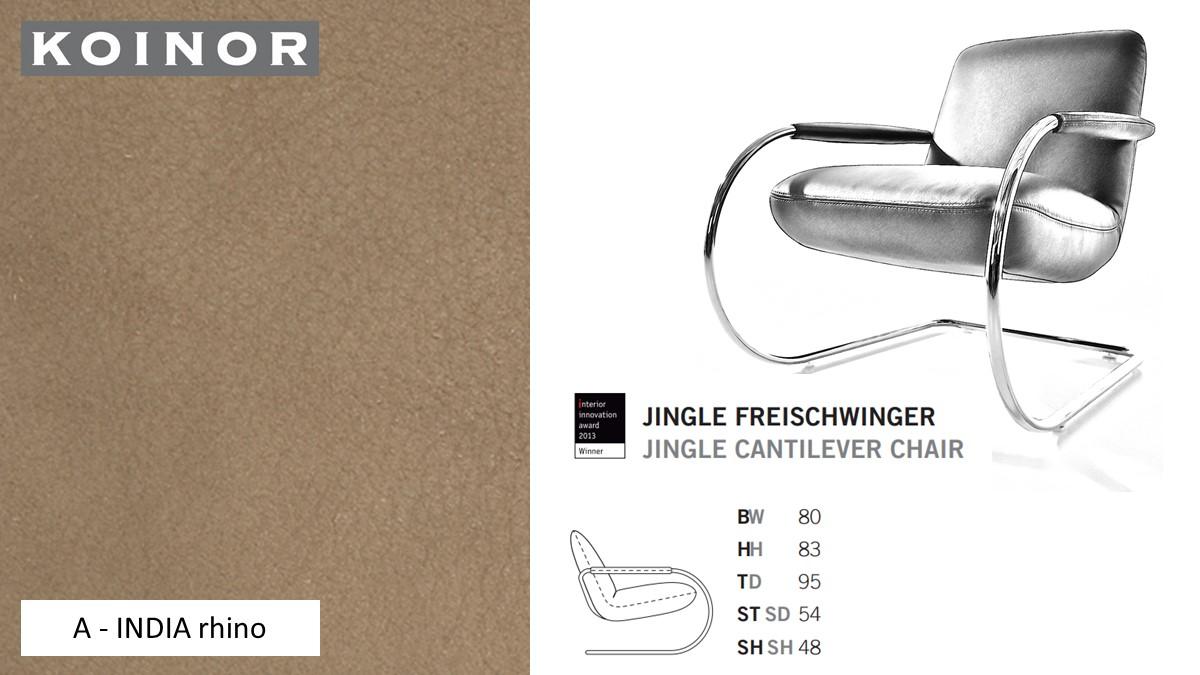KOINOR JINGLE Freischwinger - Sessel im Leder-Bezug A - INDIA rhino