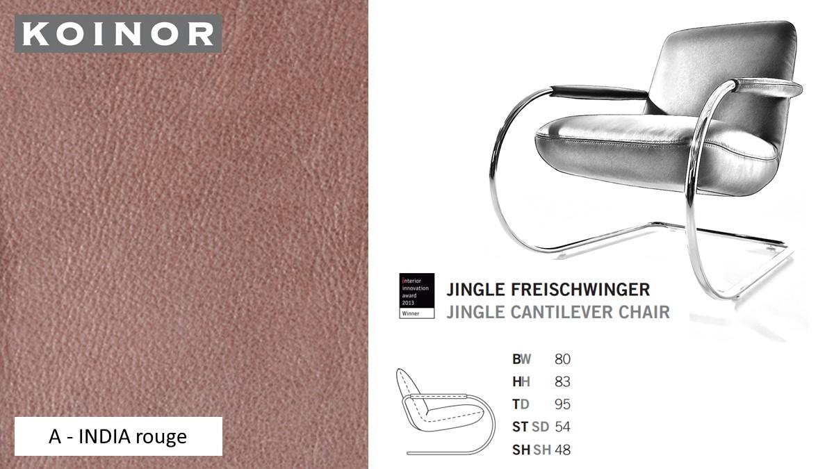 KOINOR JINGLE Freischwinger - Sessel im Leder-Bezug A - INDIA rouge
