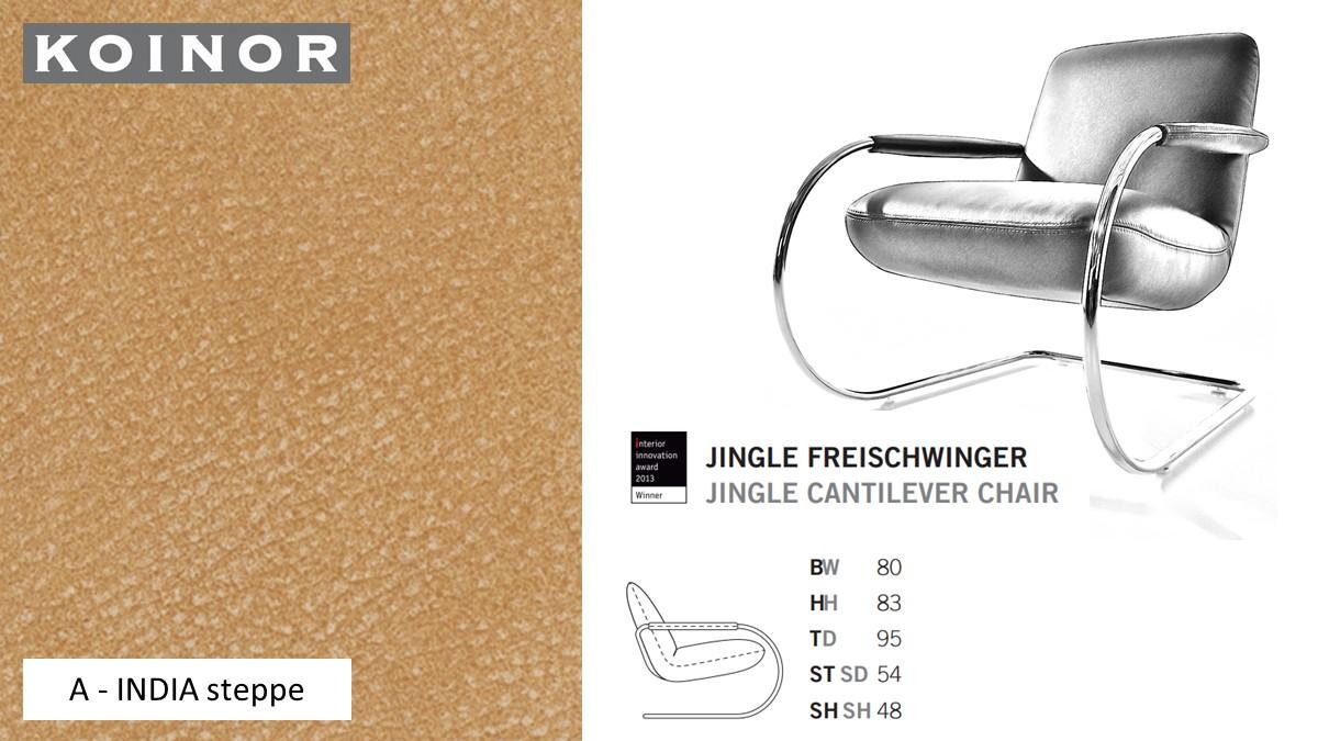 KOINOR JINGLE Freischwinger - Sessel im Leder-Bezug A - INDIA steppe