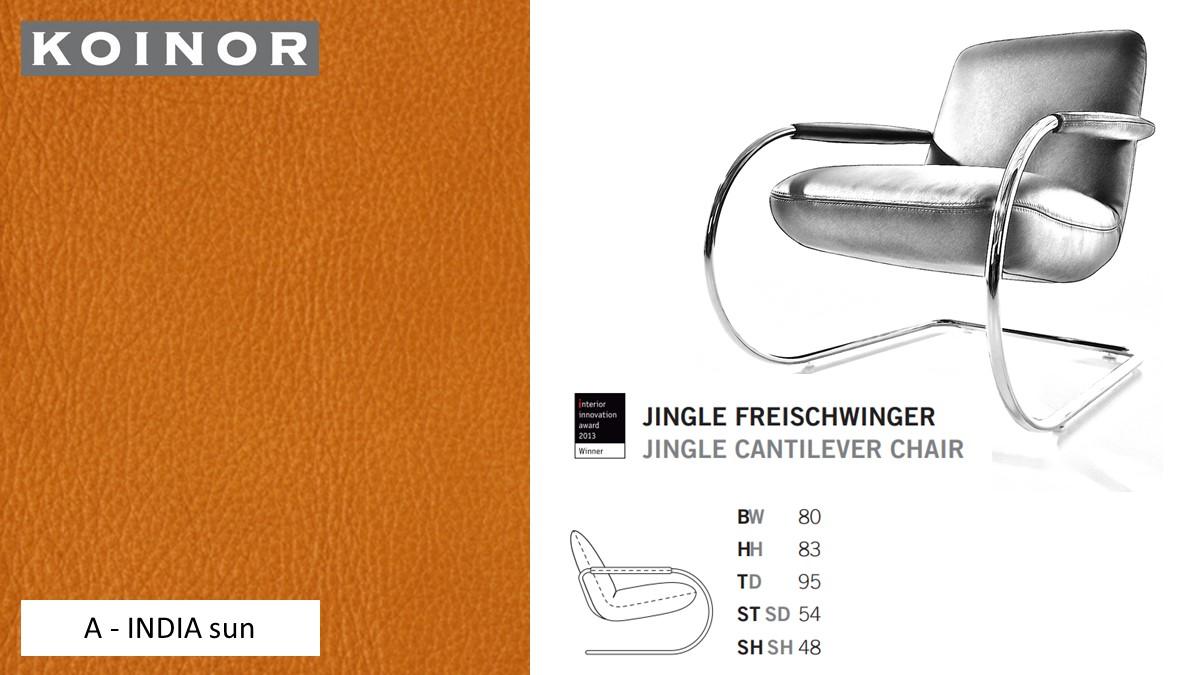 KOINOR JINGLE Freischwinger - Sessel im Leder-Bezug A - INDIA sun