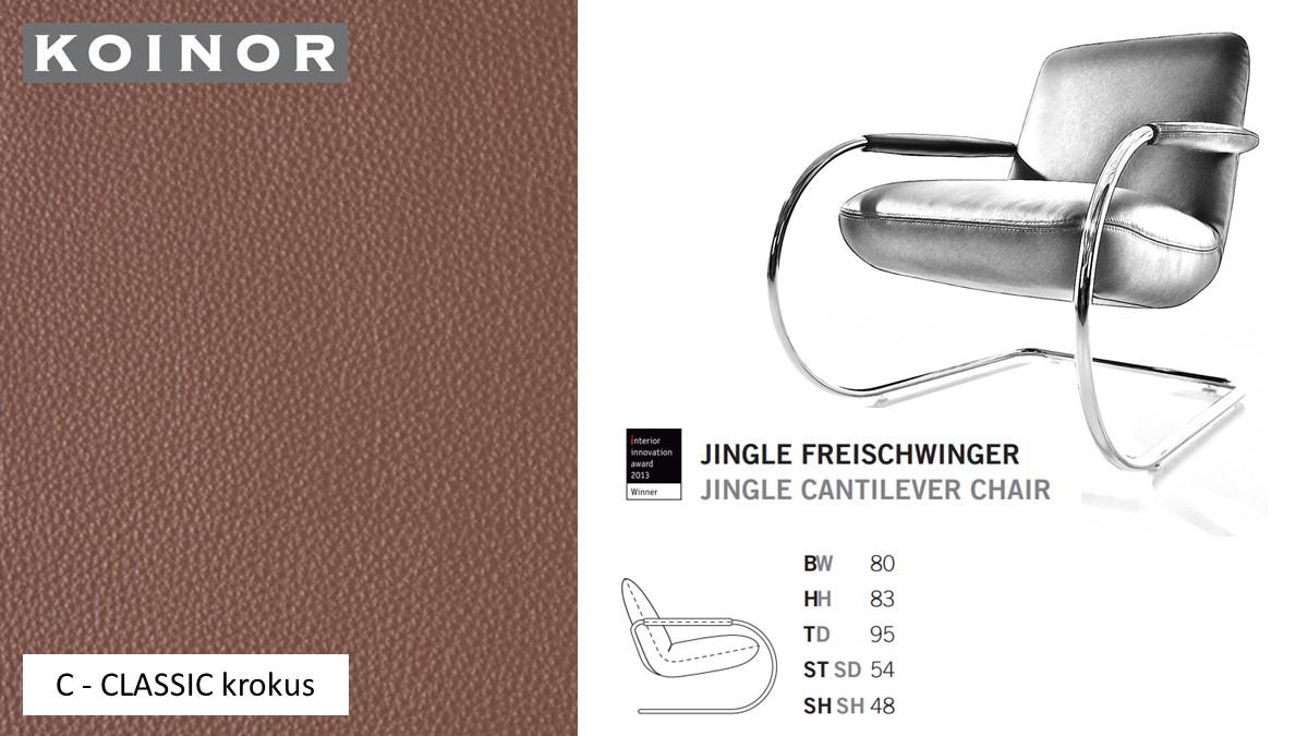 KOINOR JINGLE Freischwinger - Sessel im Leder-Bezug C - CLASSIC krokus