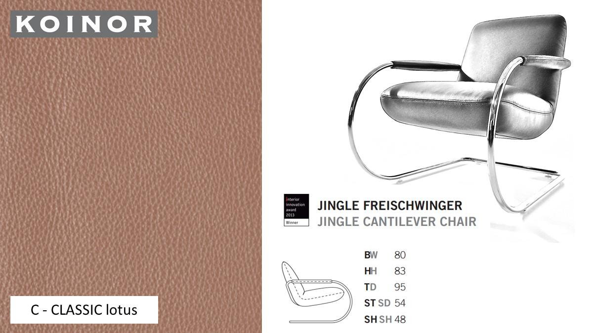 KOINOR JINGLE Freischwinger - Sessel im Leder-Bezug C - CLASSIC lotus