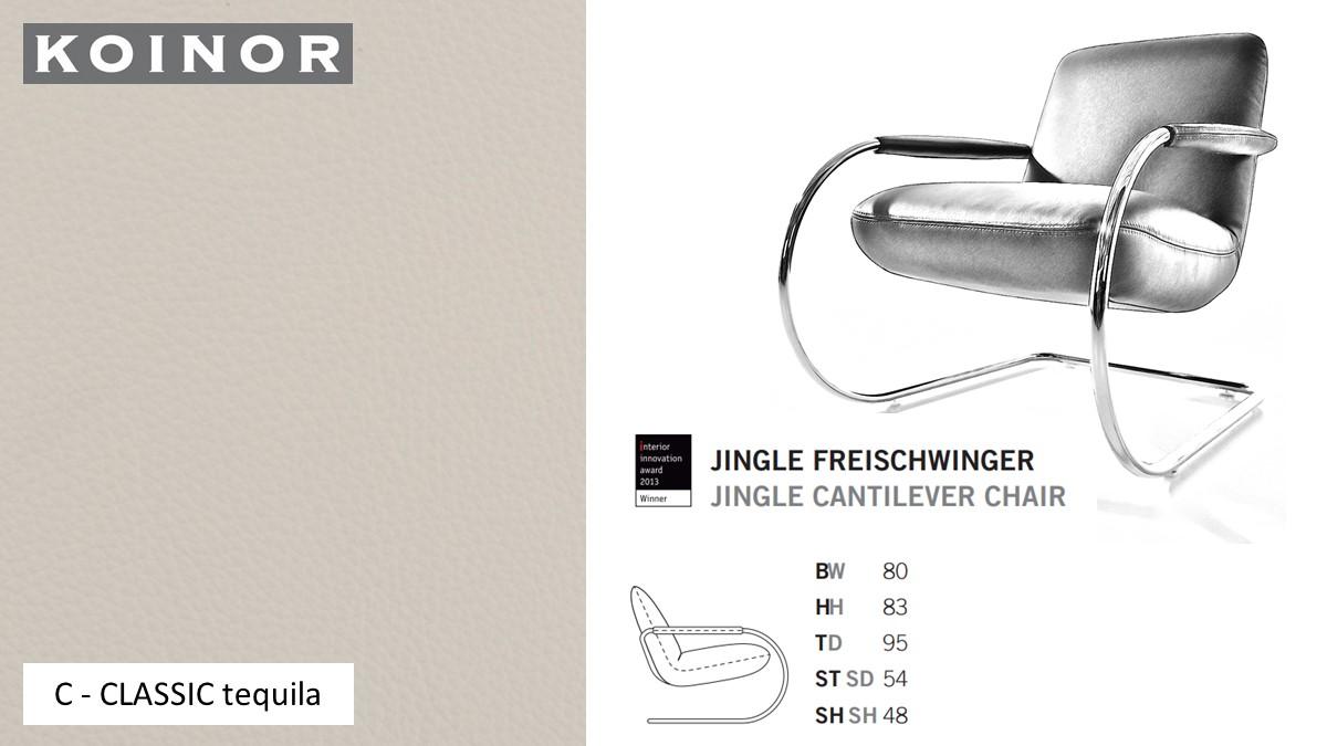 KOINOR JINGLE Freischwinger - Sessel im Leder-Bezug C - CLASSIC tequila