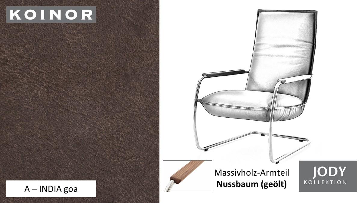 KOINOR JODY Freischwinger - Sessel im Leder-Bezug A - INDIA goa