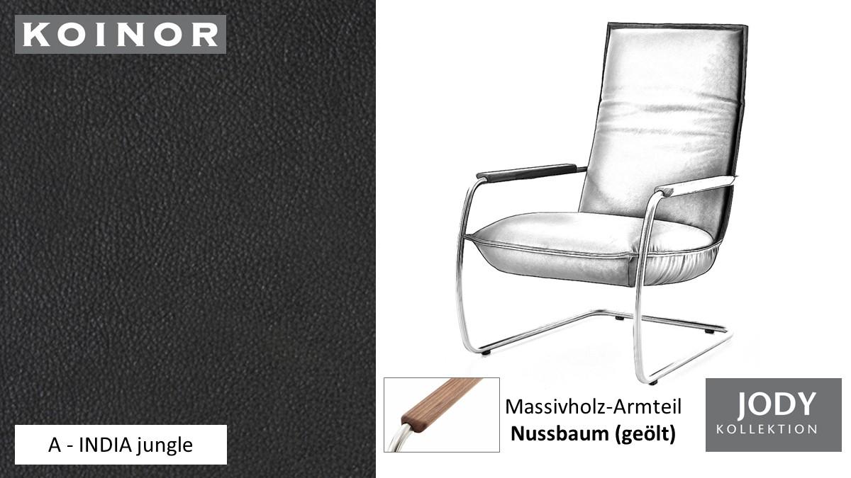 KOINOR JODY Freischwinger - Sessel im Leder-Bezug A - INDIA jungle