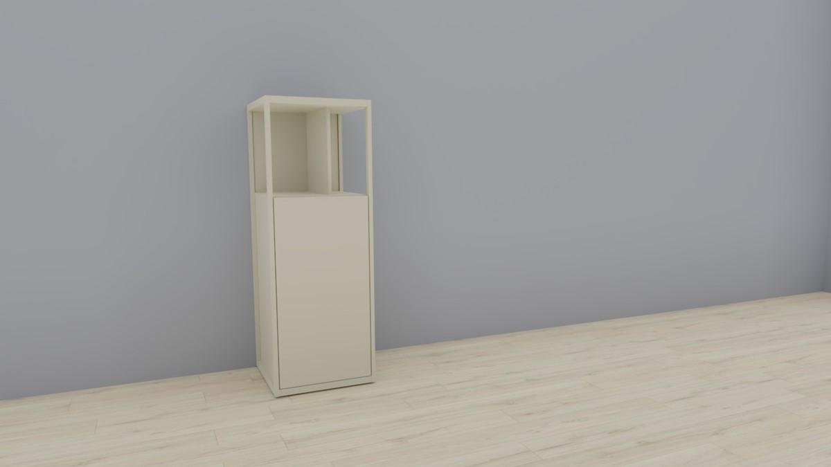 hülsta NOW! VISION Einzelmöbel 6 R #16141 - Front Lack-Hochglanz-seidengrau, OHNE Akzent