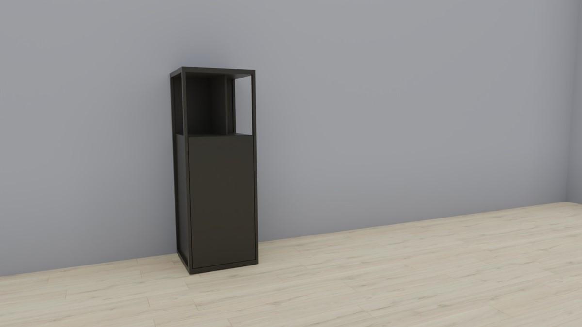 hülsta NOW! VISION Einzelmöbel 6 R #16141 - Front Lack-grau, OHNE Akzent