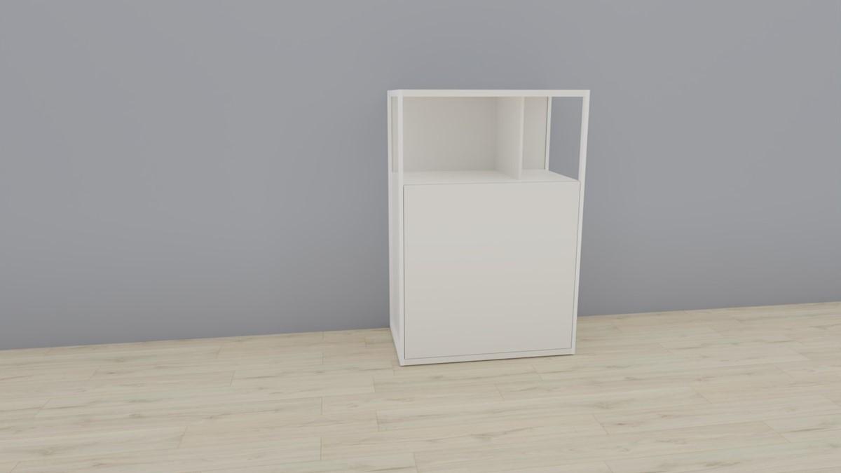 hülsta NOW! VISION Einzelmöbel 6R #16121 Front Lack-Hochglanz-weiß, OHNE Akzent