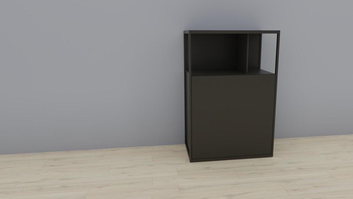 hülsta NOW! VISION Einzelmöbel 6R #16121 Front Lack-grau, OHNE Akzent